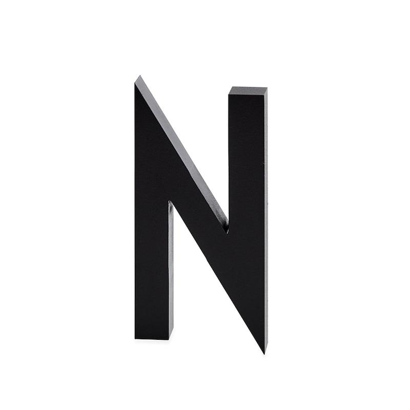 Design Letters, Grey Aluminium Letter, N
