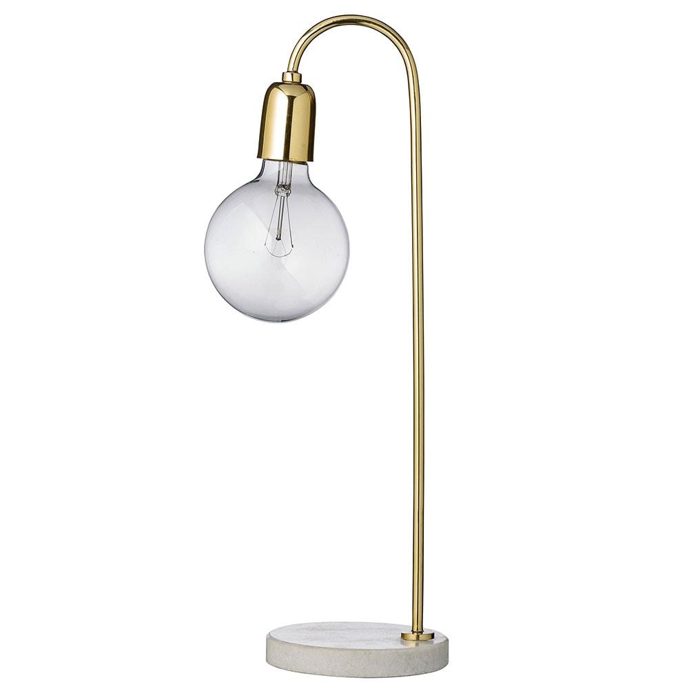 Bloomingville Table Lamp 40w Brass Marble Bloomingville Royaldesign