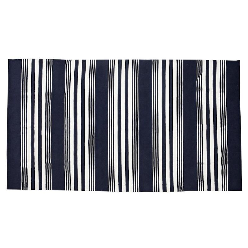 Striped Rug 170x280cm Blue White
