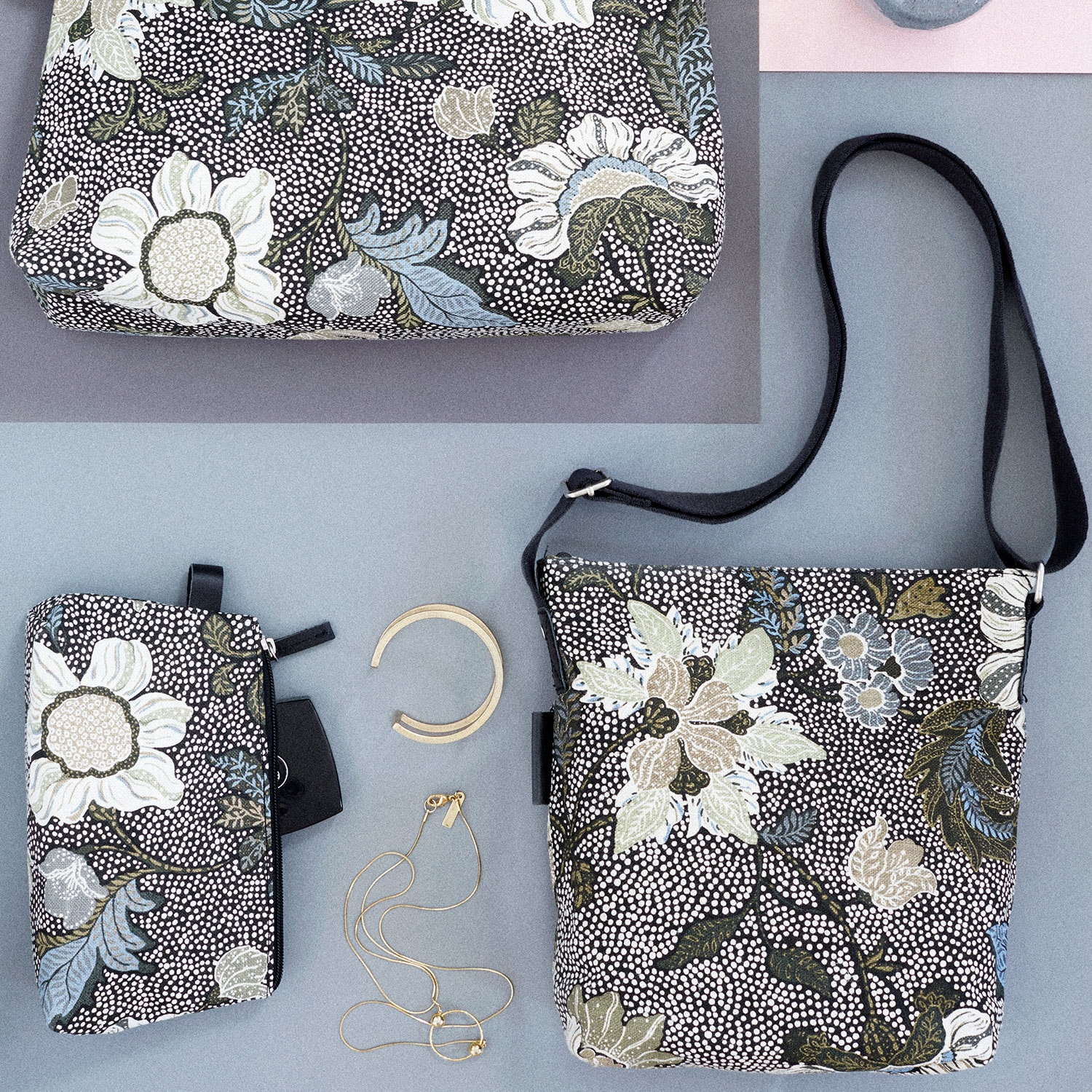 Flower Linen Small Shoulder Bag c976b4310344a