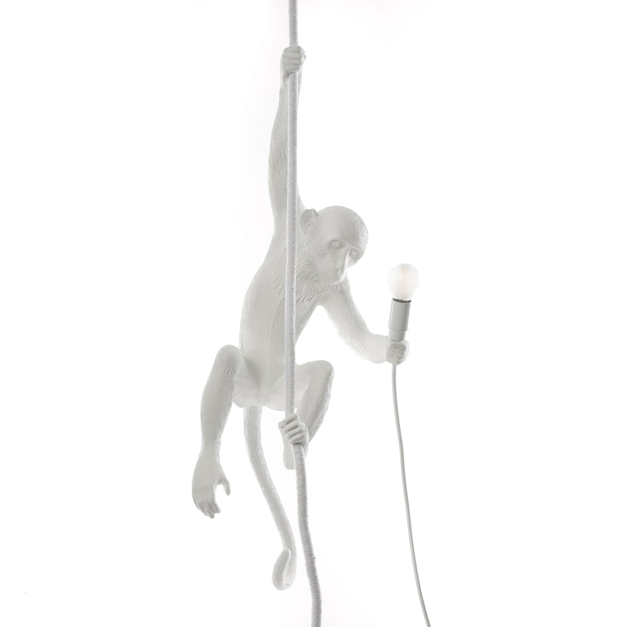 Monkey Lamp mit Schnur, Weiß