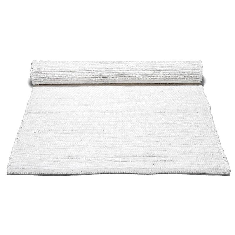 Cotton Rug White Solid Royaldesign