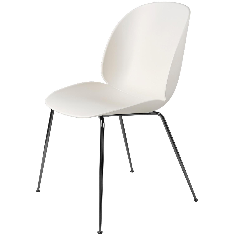 Beetle Dining Chair Unupholstered Conic Base Black Chromed Alabaster Wh Gubi Royaldesign