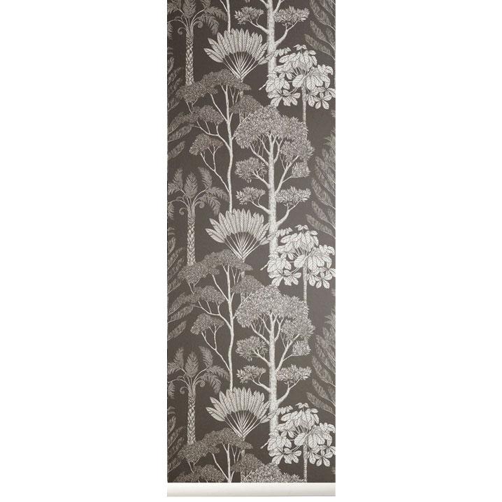 Katie Scott Wallpaper Tree Grey
