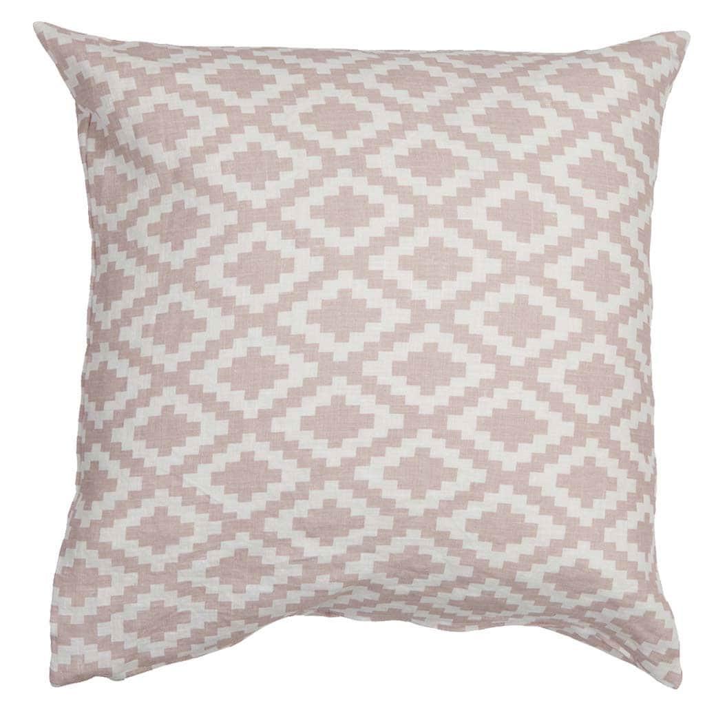 Diamonds Cushion Cover 50x50cm Pale Pink