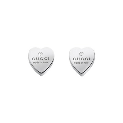 509f8237e90 Trademark Silver Stud Earrings Heart - Gucci   RoyalDesign