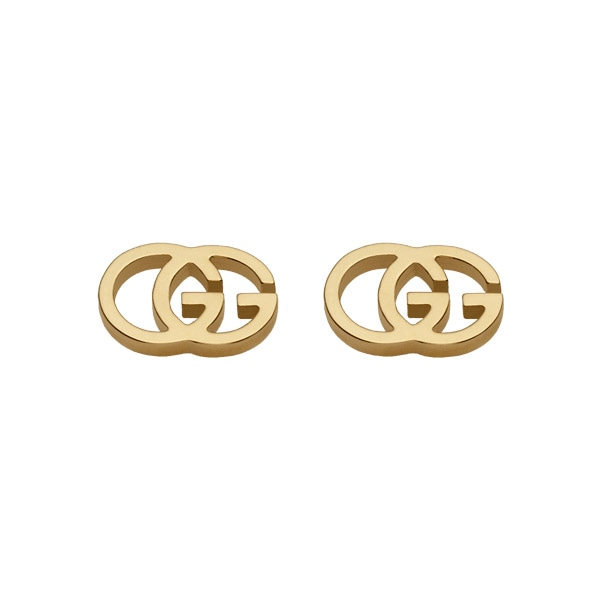 4d6adfe891d297 GG Tissue Stud Earrings, Yellow Gold - Gucci @ RoyalDesign