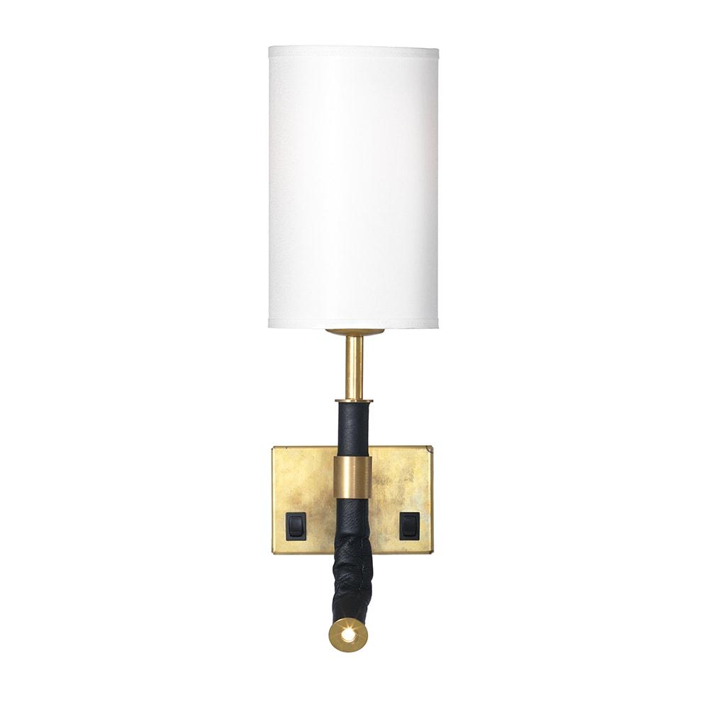 Butler Wandlampe (kabel), MessingWeiss
