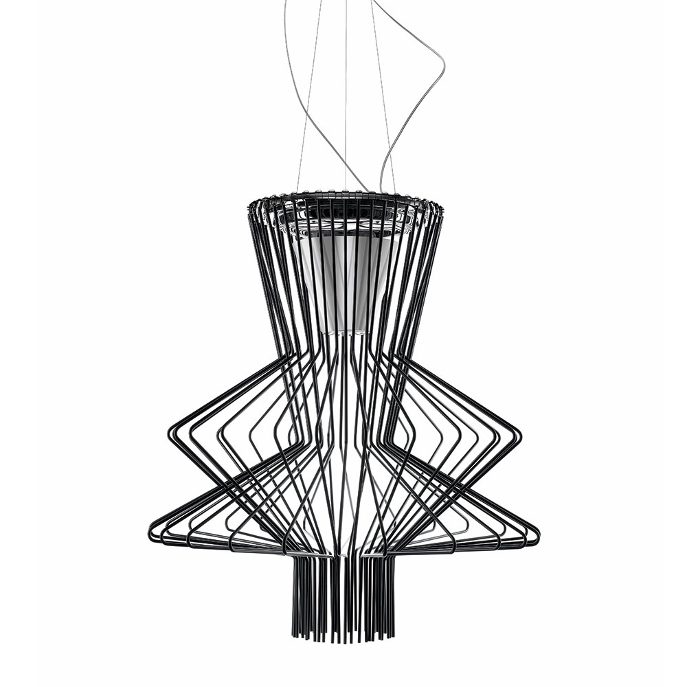 Allegro Ritmico LED Ceiling Lamp, Black