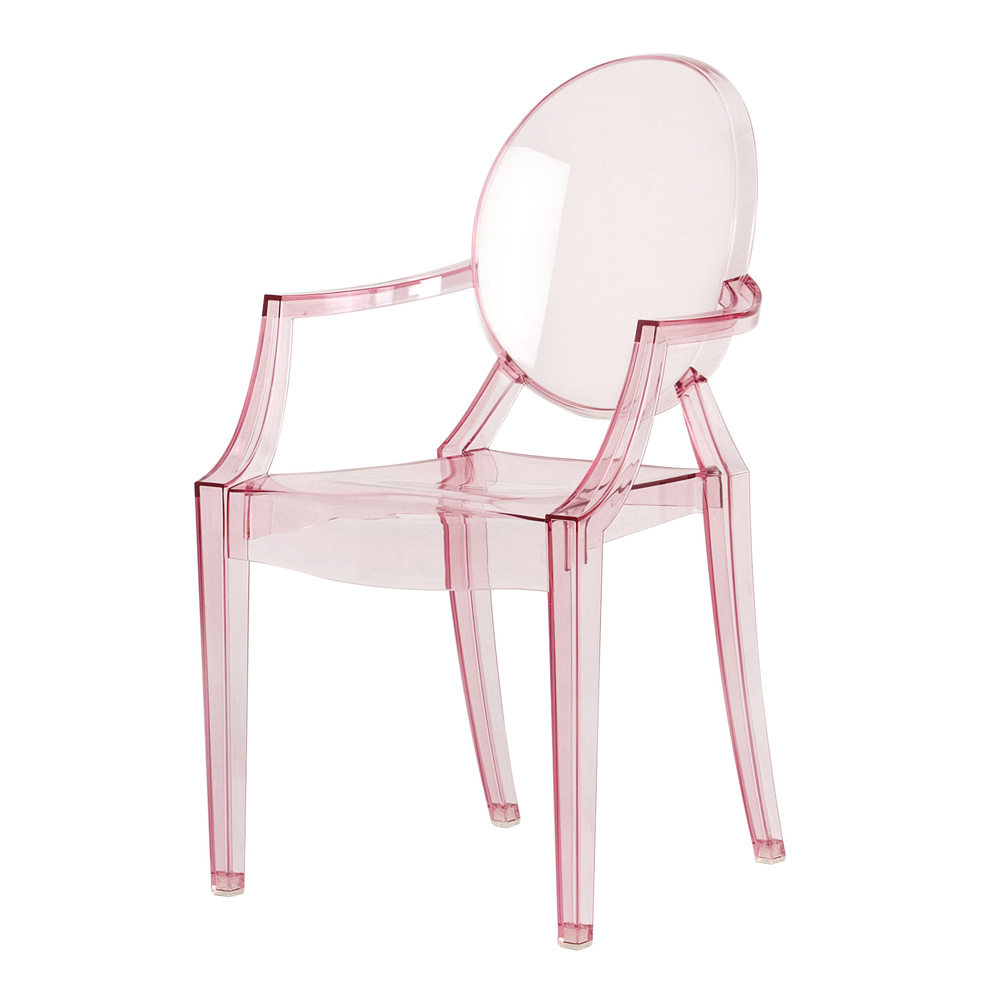 Lou lou ghost chair baby pink philippe starck kartell for Philippe starck ghost chair