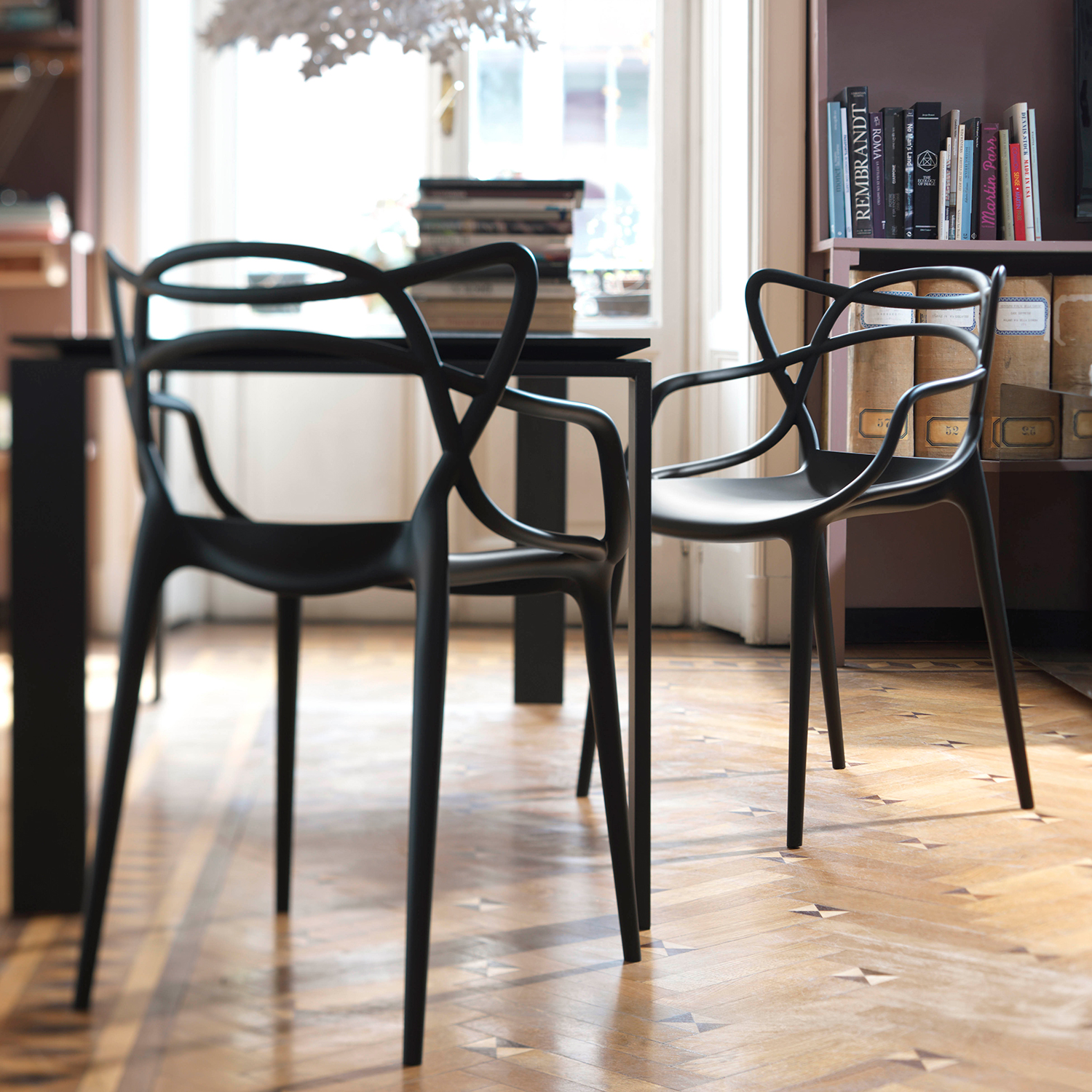 Masters Chair Black Philippe Starck & Eugeni Quitllet Kartell