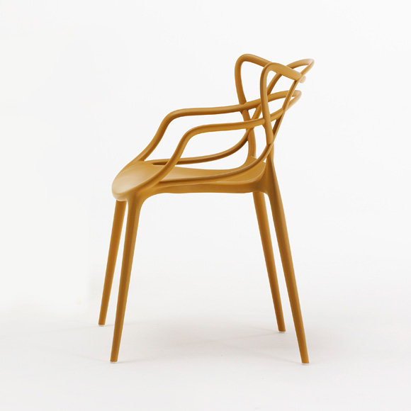 Masters chair mustard philippe starck eugeni quitllet for Chaise kartell masters
