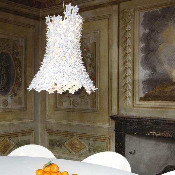 bloom lamp white ferruccio laviani kartell. Black Bedroom Furniture Sets. Home Design Ideas