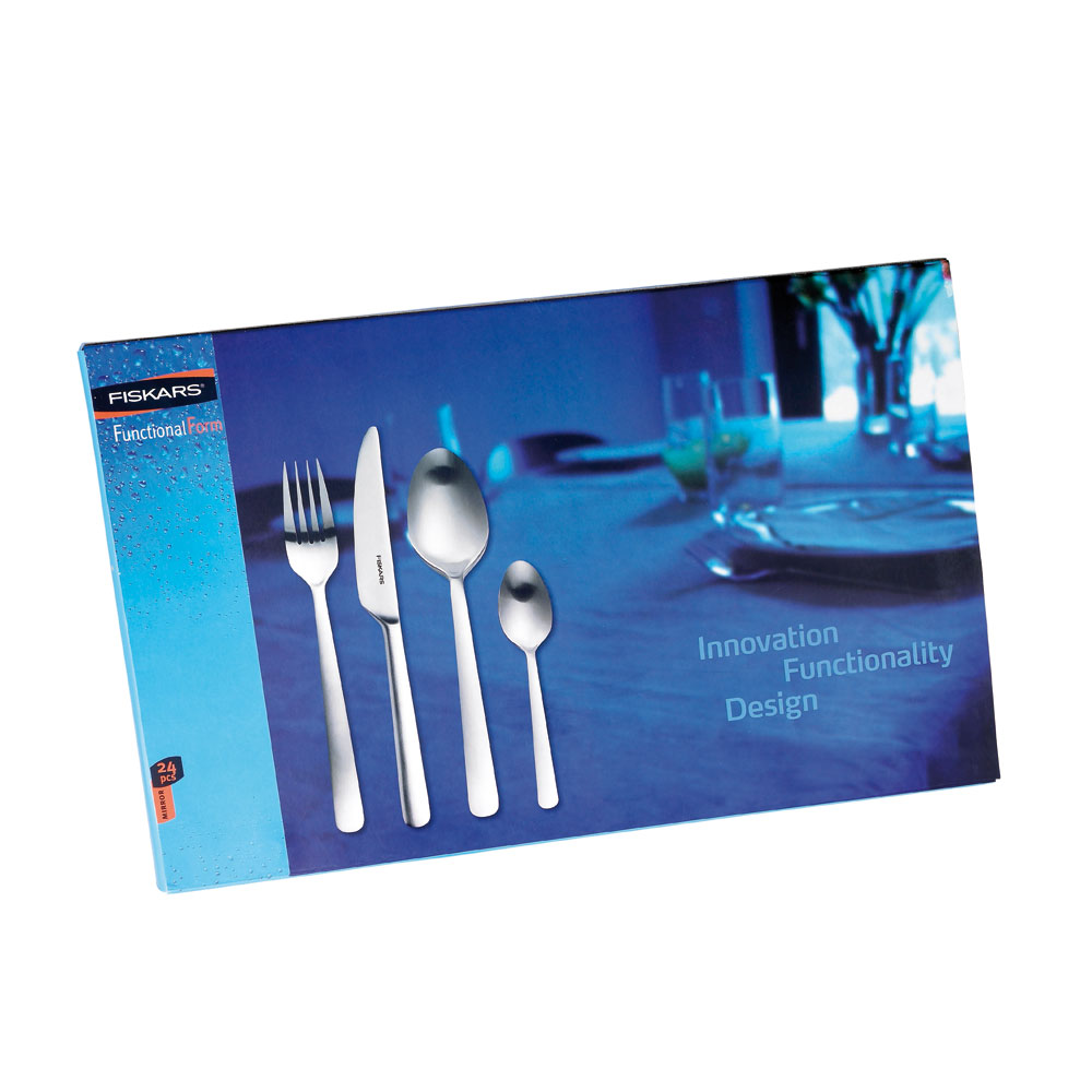 Functional Form Cutlery Set 24 pieces, Shiny - Tobias Jacobsen ...