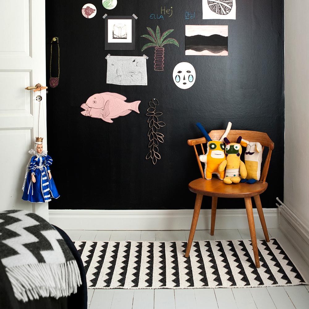 gittan rug black brita sweden brita sweden. Black Bedroom Furniture Sets. Home Design Ideas
