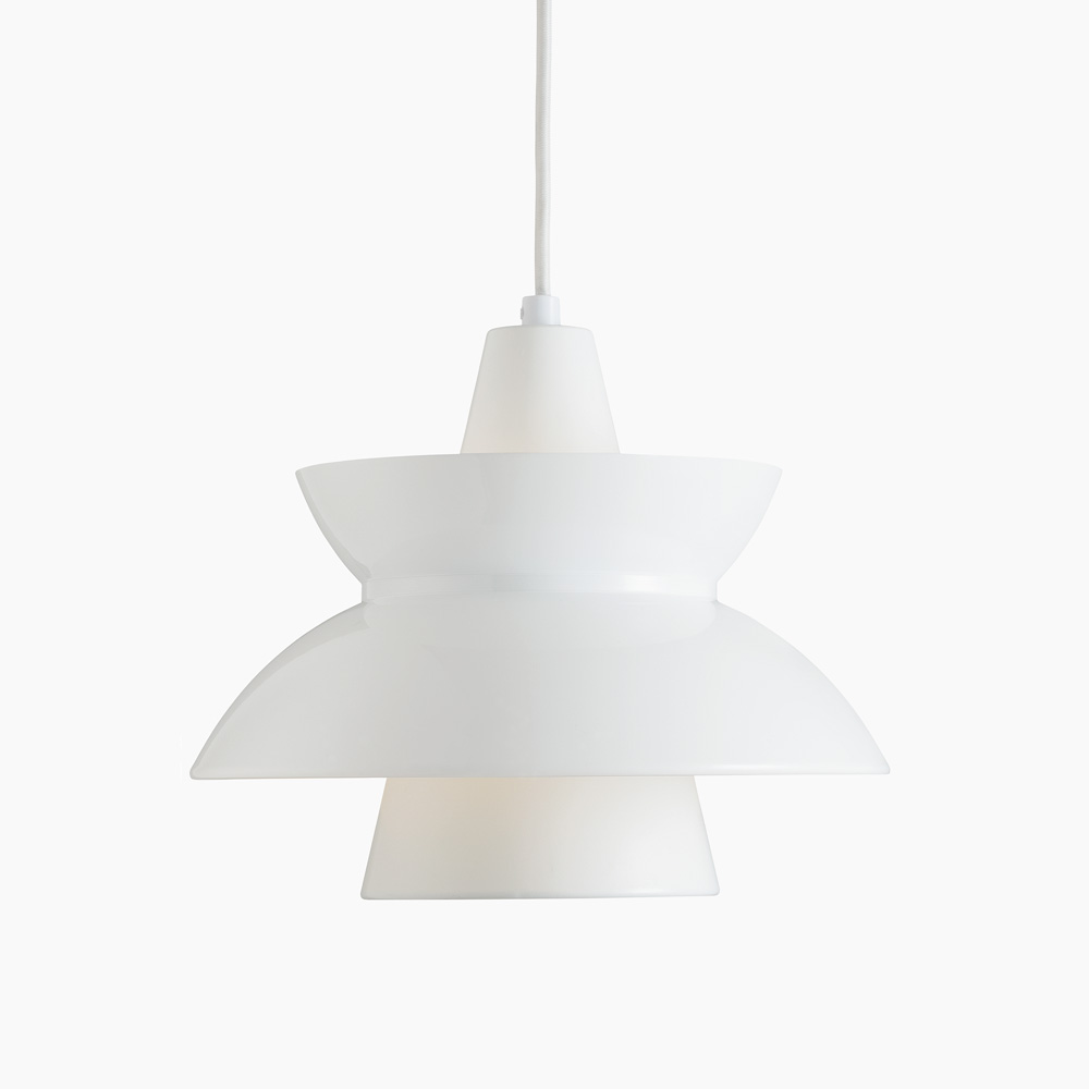 doo wop pendant light white louis poulsen lighting a s. Black Bedroom Furniture Sets. Home Design Ideas
