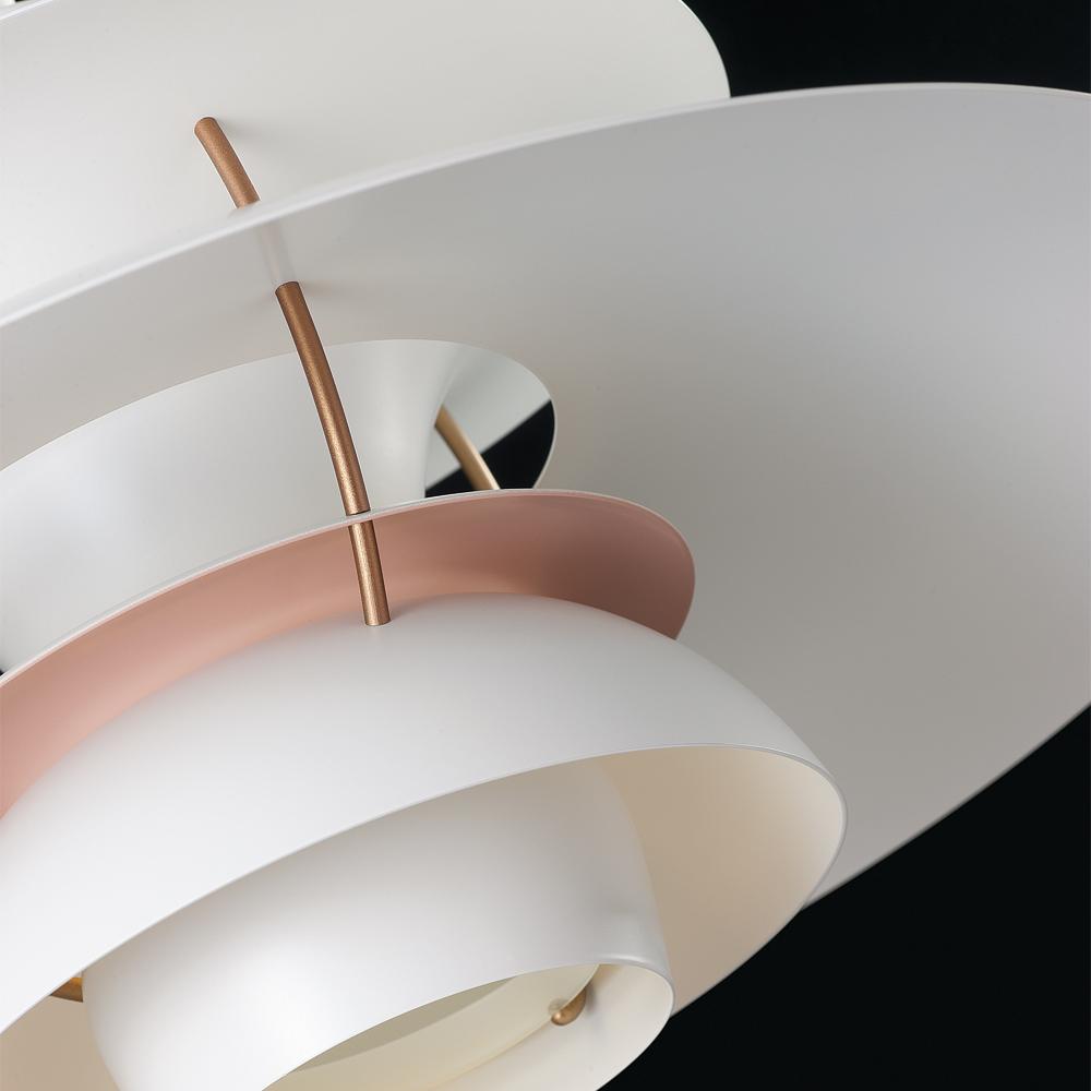 ph 5 200w e27 white pale rose mat poul henningsen louis poulsen. Black Bedroom Furniture Sets. Home Design Ideas