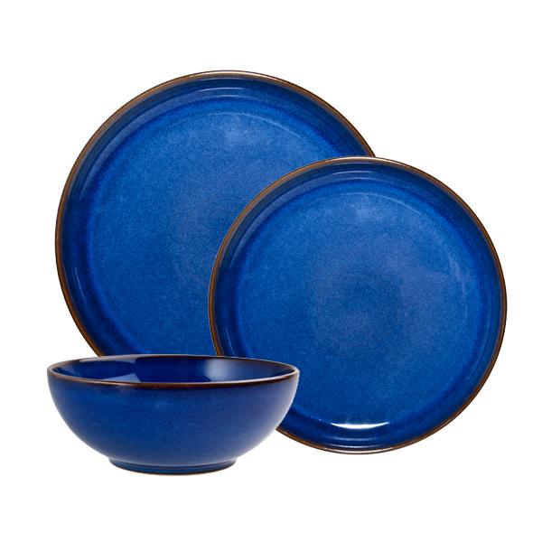 imperial blue breakfast set 12 pcs denby denby. Black Bedroom Furniture Sets. Home Design Ideas