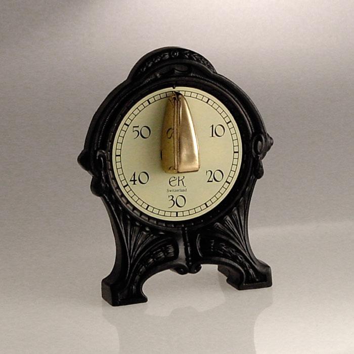 Antik Reloj de cocina, Negro