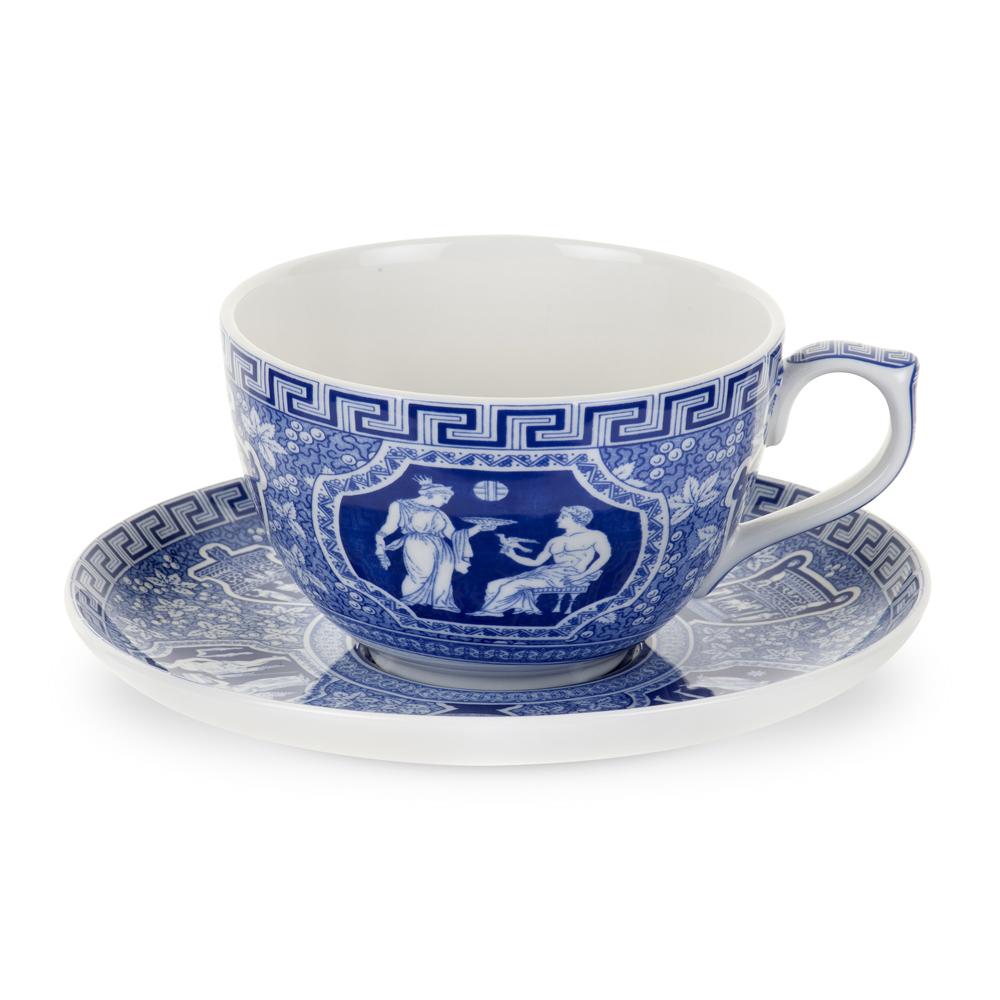 Blue Room Jumbo Cup & Saucer - Greek - Spode - Spode ...