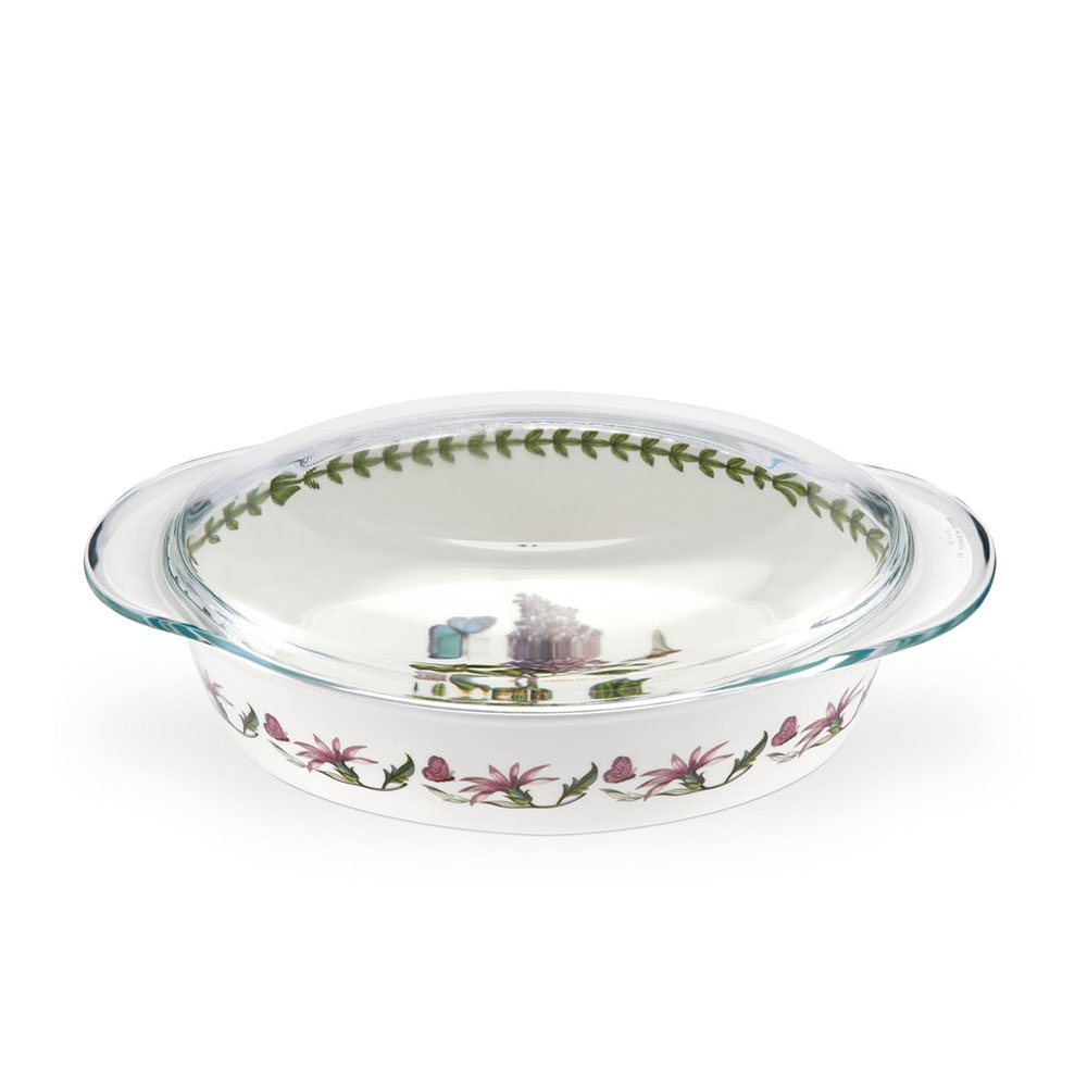 Botanic Garden Large Oval Casserole with Glass Lid