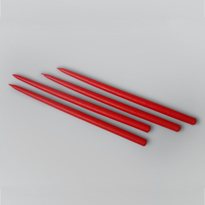 Candle set Gemini, Red, 4 pcs