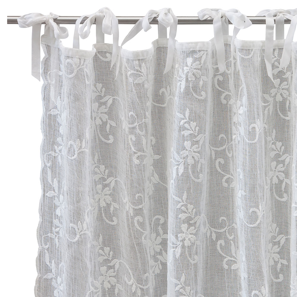 maddie voile curtain white large lene bjerre lene bjerre. Black Bedroom Furniture Sets. Home Design Ideas