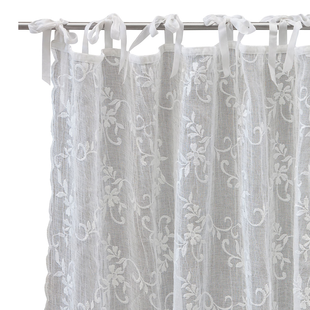 Maddie Voile Curtain White, Small   Lene Bjerre   Lene Bjerre