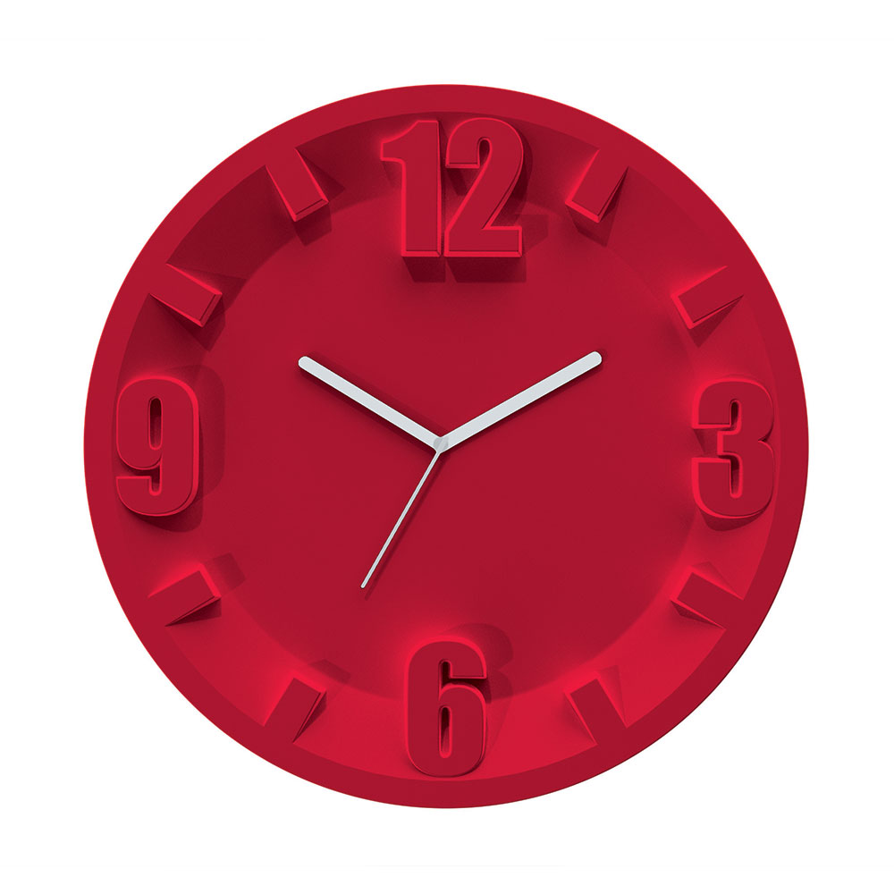 3-9-6-12 Wall Clock, Red