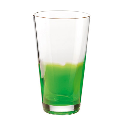 Two-tone Drinking Glass, Green
