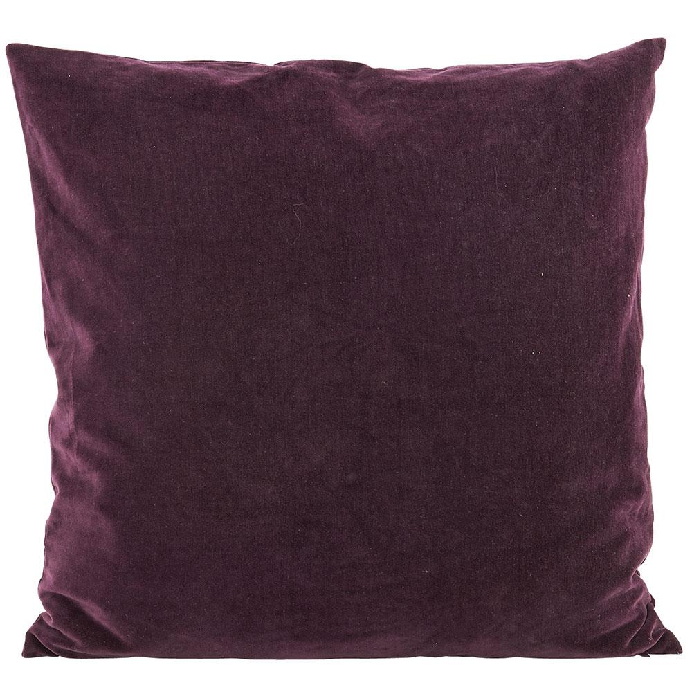 Velv Cushion Cover 50x50cm, Aubergine