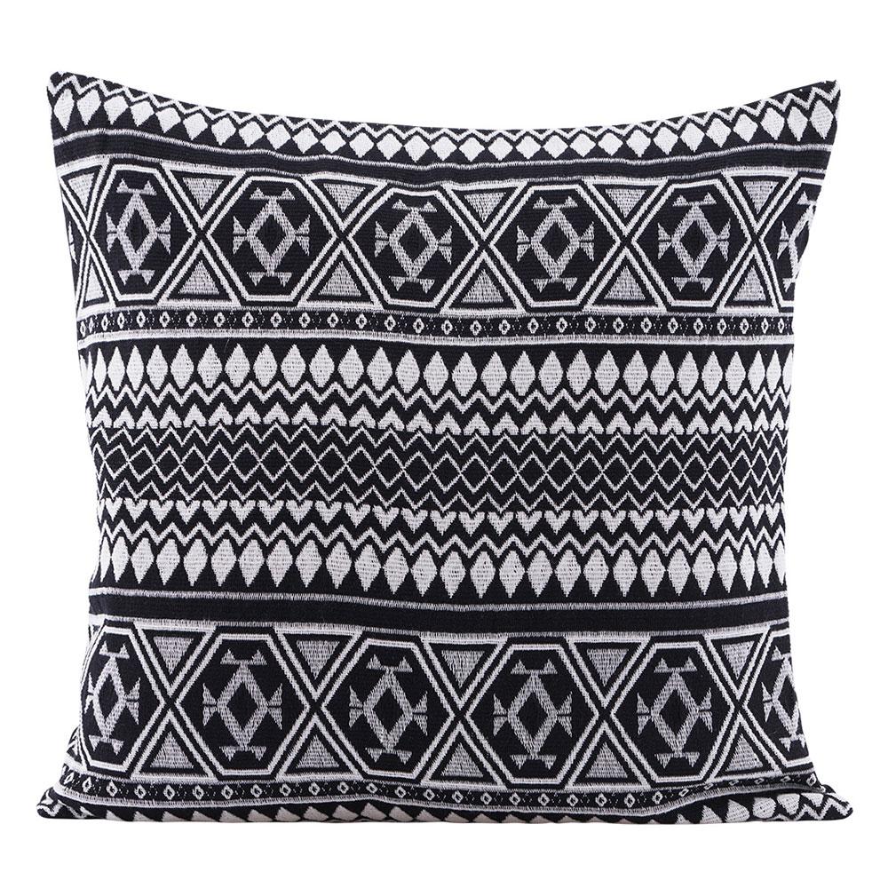 Indi Cushion Cover 50x50cm, Black/white