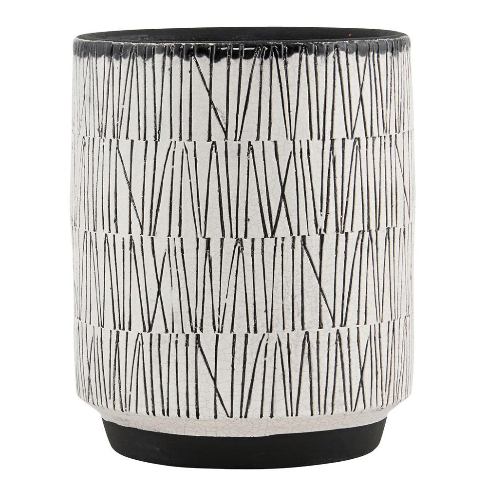 quaff vase black white house doctor house doctor. Black Bedroom Furniture Sets. Home Design Ideas