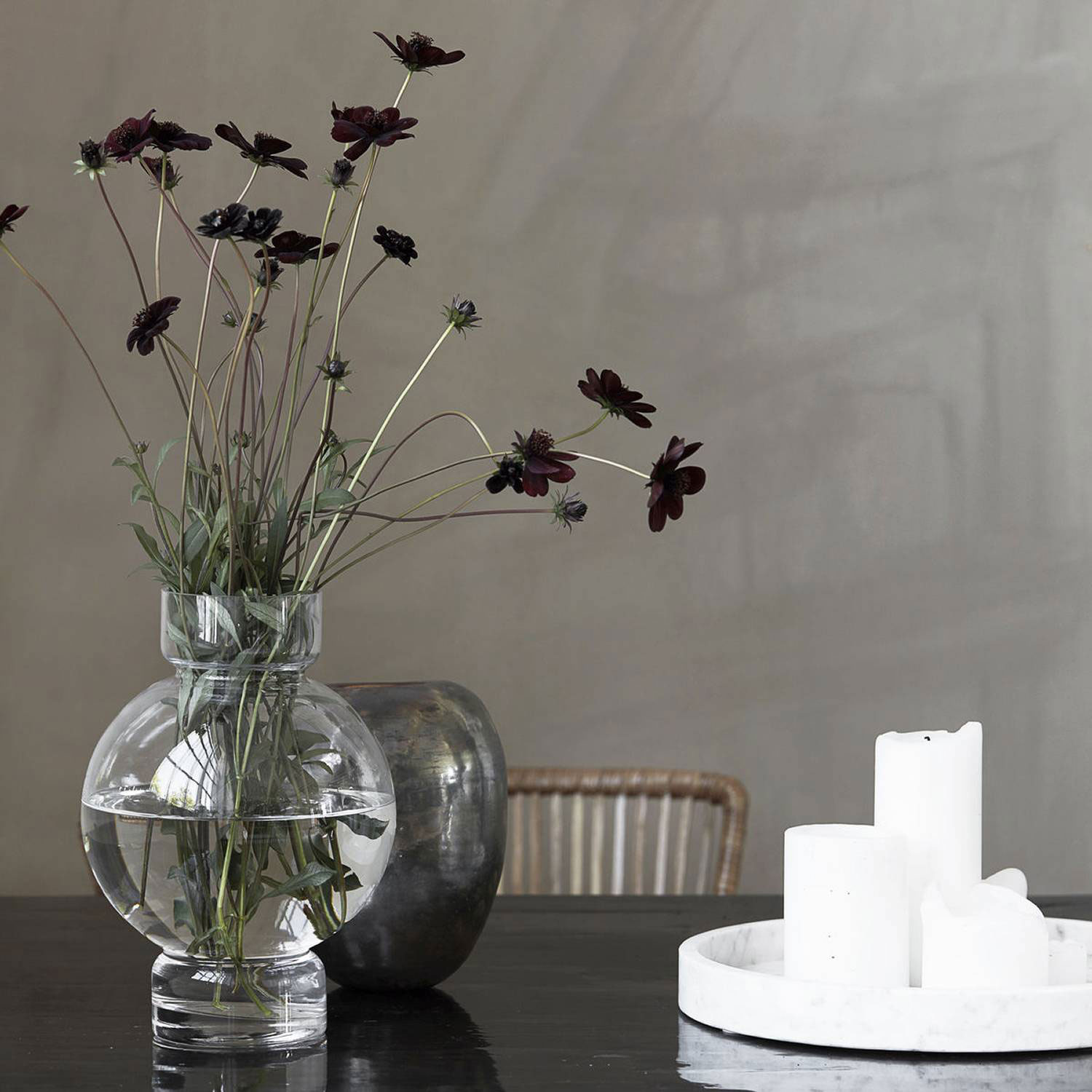 bubble vase 17 5cm clear house doctor house doctor. Black Bedroom Furniture Sets. Home Design Ideas