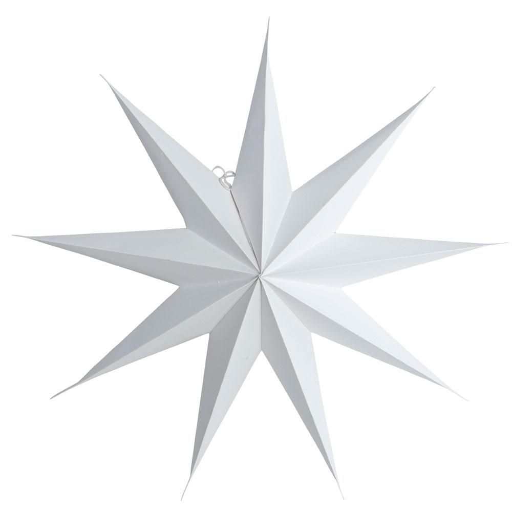 9 Point Christmas Star 60cm, White