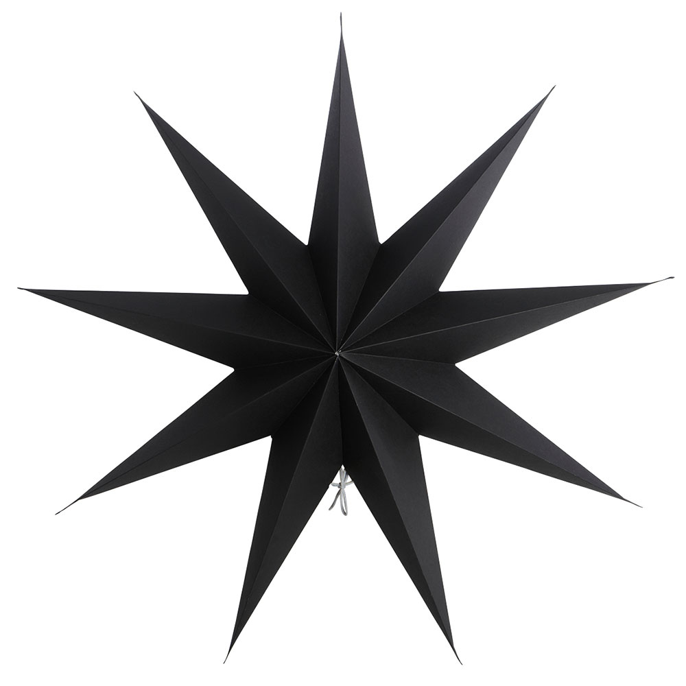 9 Point Christmas Star 60cm, Black