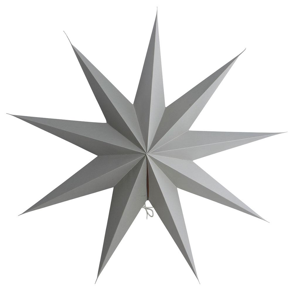 9 Point Christmas Star 60cm, Grey