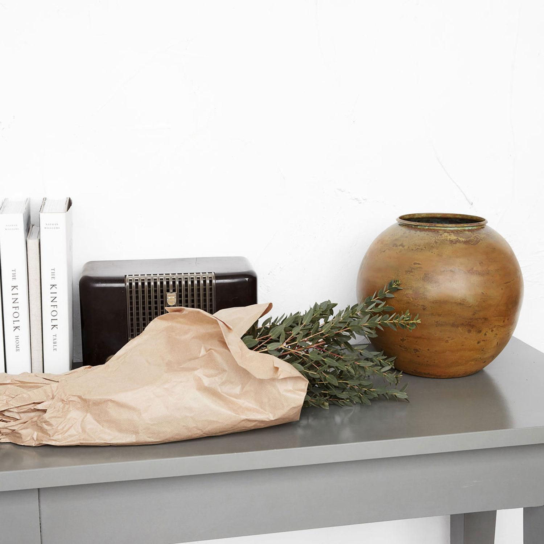 etnik vase mustard house doctor house doctor. Black Bedroom Furniture Sets. Home Design Ideas