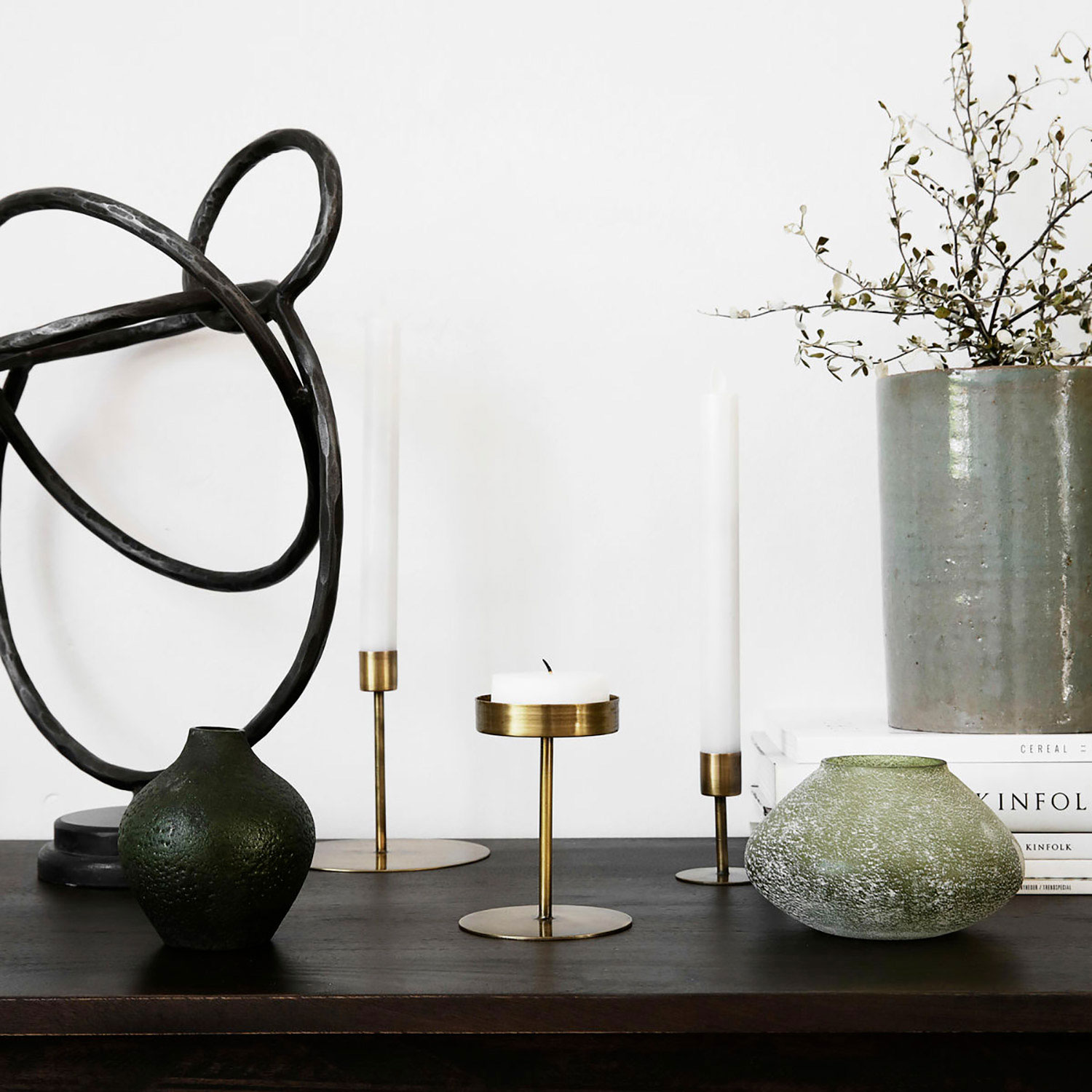 anit candle stand 13x12cm antique brass house doctor house doctor. Black Bedroom Furniture Sets. Home Design Ideas