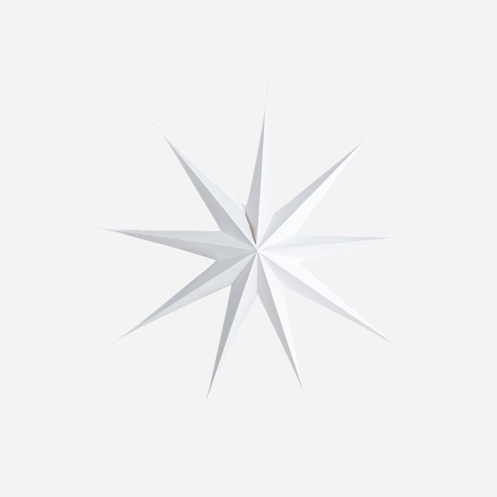 9 Point Christmas Star, White