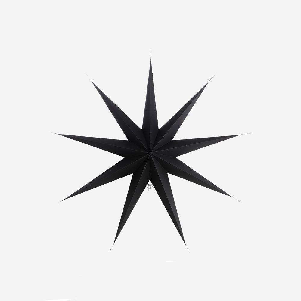 9 Point Christmas Star, Black