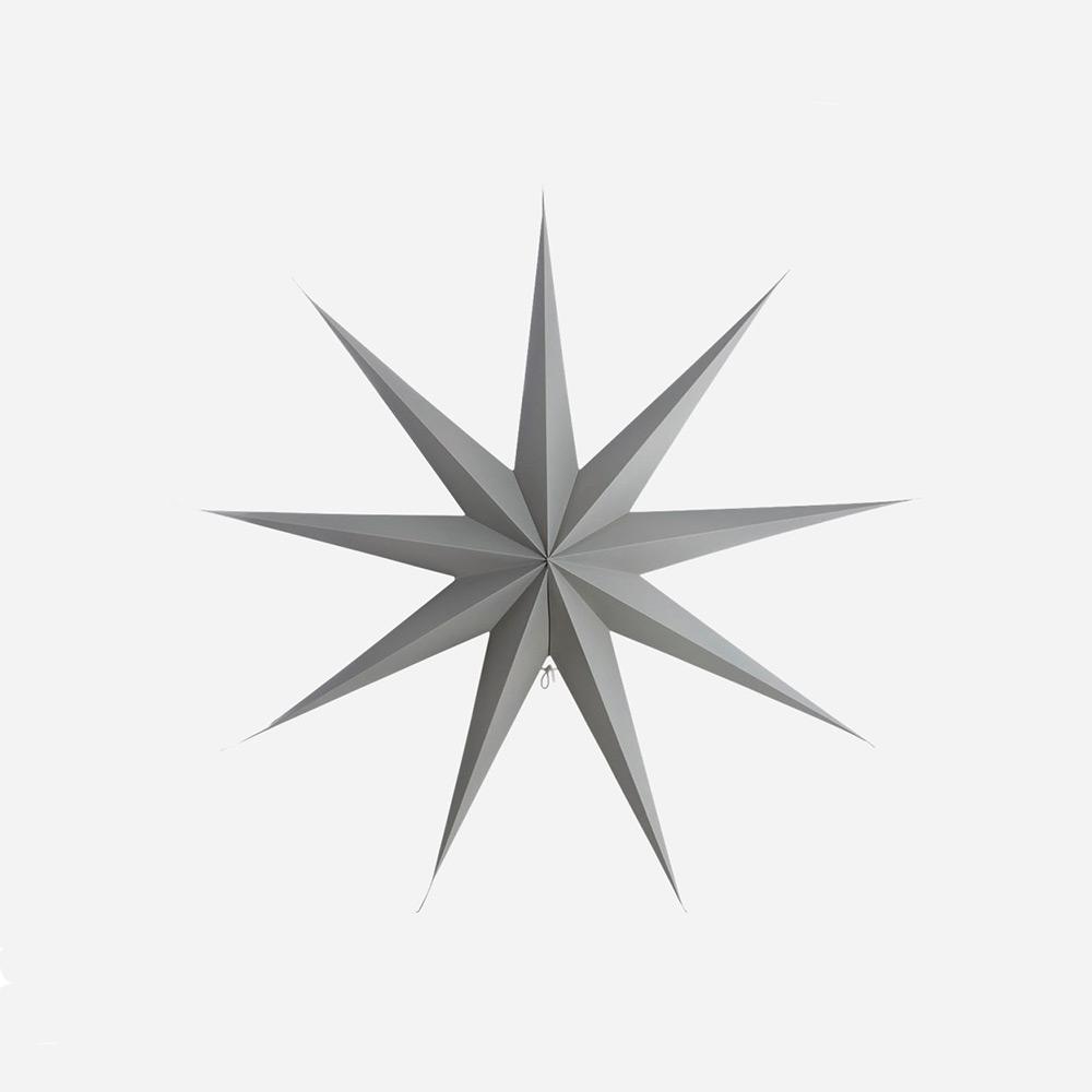 9 Point Christmas Star, Grey