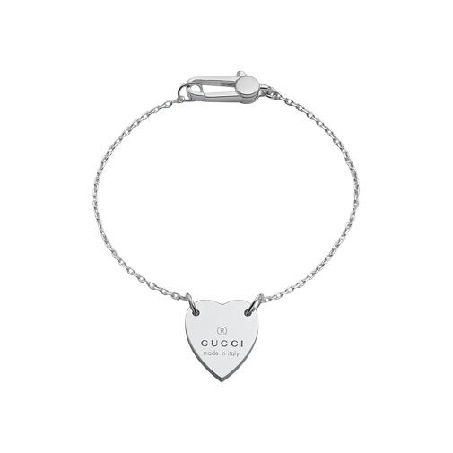 Trademark Silver Bracelet Gucci Heart