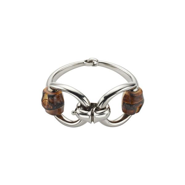 Bamboo Bracelet with horsebit motif