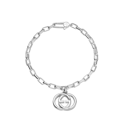 Interlocking Silver Charm Bracelet