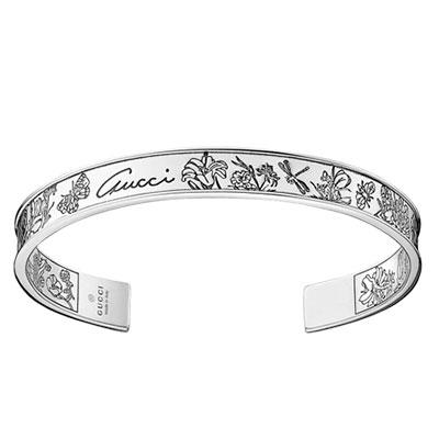 Flora Bracelet 18, Sterling Silver