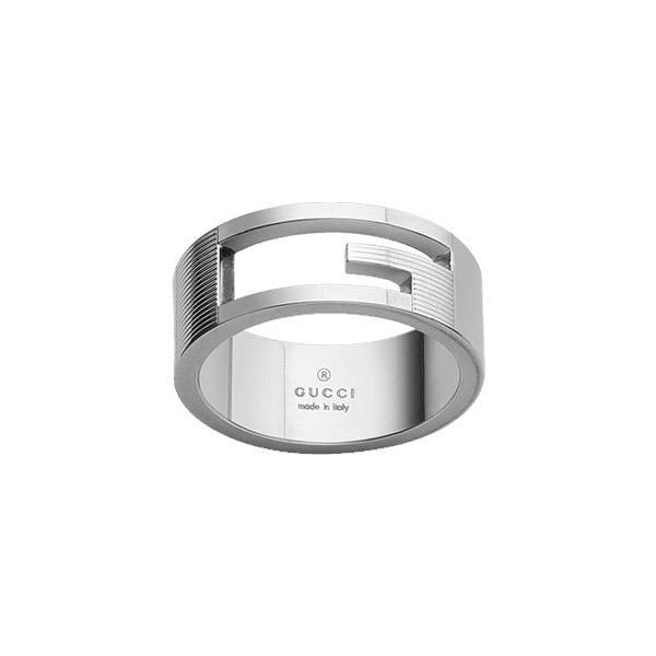 Branded Silver Ring, slim