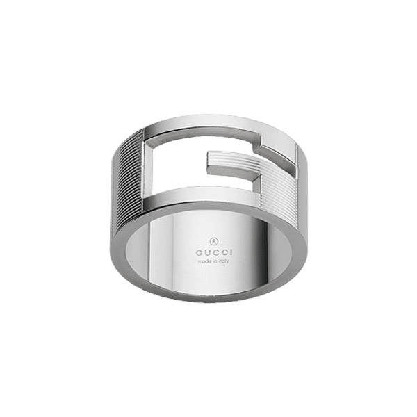 Branded Silver Ring, wide