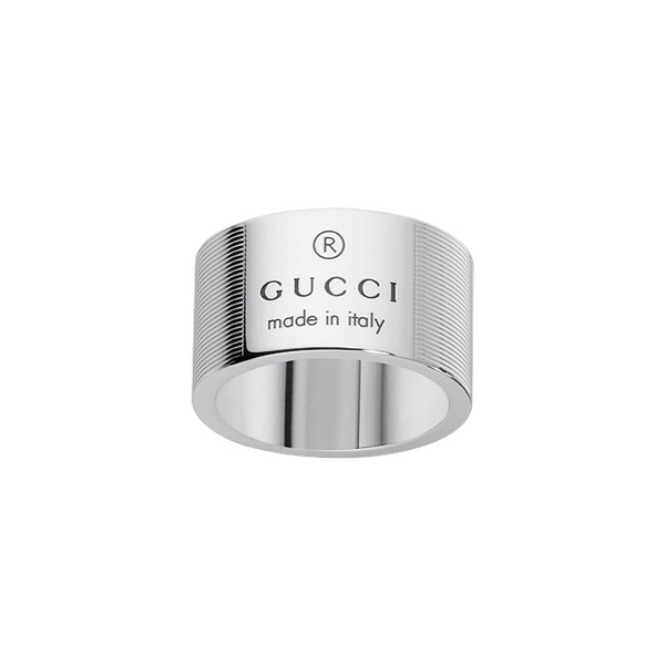Trademark Stripes Silver Ring, Wide