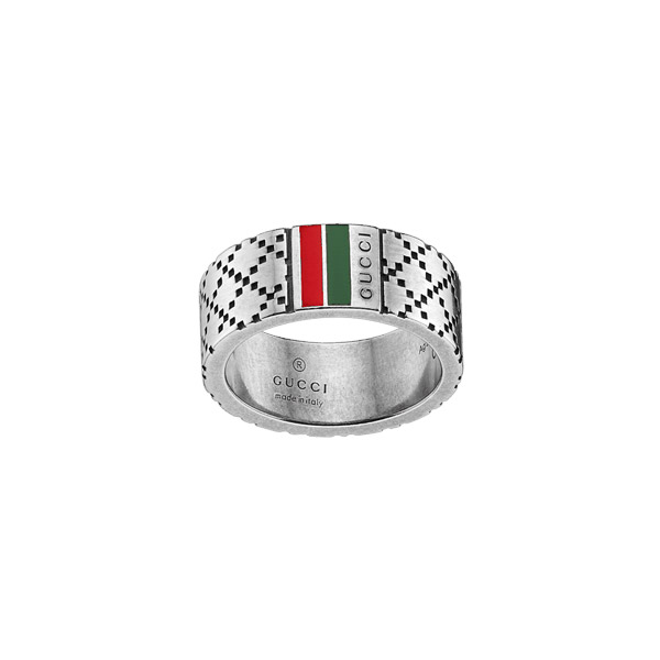 Diamantissima Silver Ring Diamante, green & red